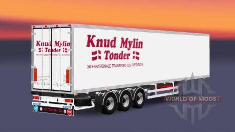The semitrailer-the refrigerator Knuy Mylin Nark for Euro Truck Simulator 2