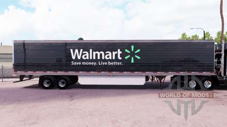 Skin Walmart extended trailer for American Truck Simulator