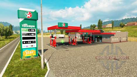 Real gas stations v0.3 for Euro Truck Simulator 2