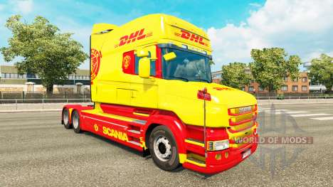 Skin DHL for Scania T truck for Euro Truck Simulator 2