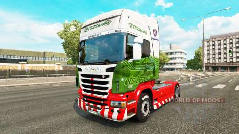 Skin ETS2Studio on tractor Scania for Euro Truck Simulator 2