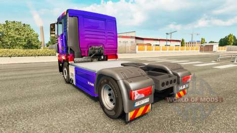 Skin Storm on tractor MAN for Euro Truck Simulator 2