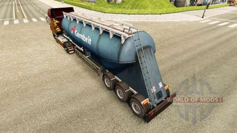Skin Cembrit cement semi-trailer for Euro Truck Simulator 2