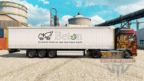 Skin Beton on semi for Euro Truck Simulator 2