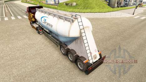 Skin Brass Transport cement semi-trailer for Euro Truck Simulator 2