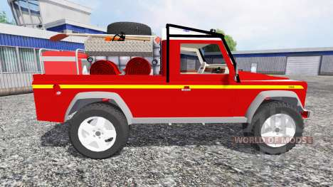 Land Rover Defender 110 [feuerwehr] for Farming Simulator 2015
