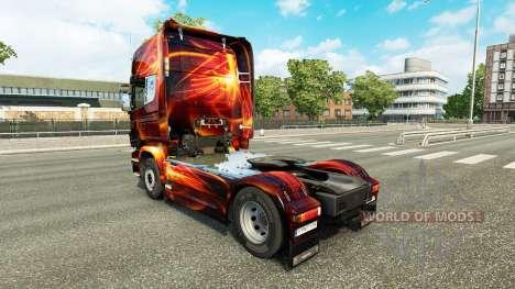 Fire Effect skin for Scania truck for Euro Truck Simulator 2