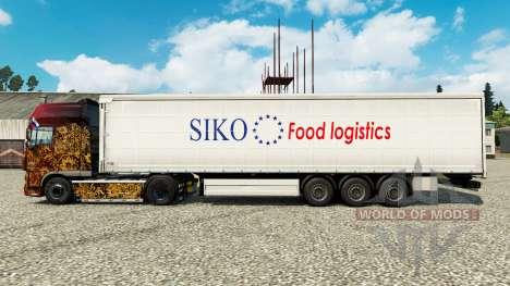 Skin Siko Food Logistics for trailers for Euro Truck Simulator 2