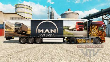 Skin MAN for trailers for Euro Truck Simulator 2