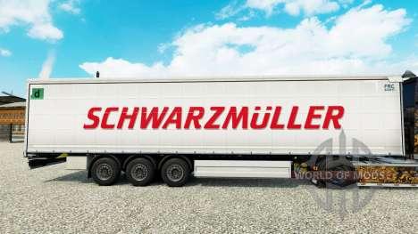 Skin Schwarzmuller semi-trailer on a curtain for Euro Truck Simulator 2