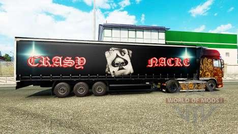 Skin Crasy Trans Logistic v2.0 for trailers for Euro Truck Simulator 2