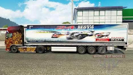 Skin 24heures du mans MOTO trailers for Euro Truck Simulator 2