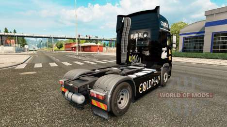 Coldplay skin for Volvo truck for Euro Truck Simulator 2