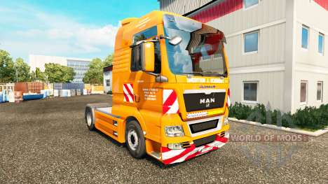 The J. Eckhardt Spedition skin v1.8 the tractor  for Euro Truck Simulator 2
