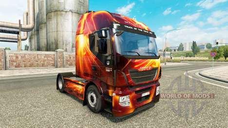 Fire Effect skin for Iveco tractor unit for Euro Truck Simulator 2