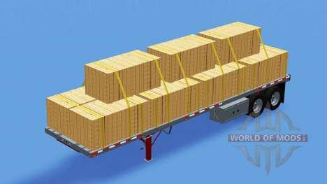 Two-axle semi-trailer-platform for American Truck Simulator
