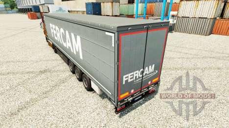 Fercam skin for trailers for Euro Truck Simulator 2