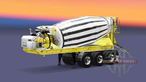 Semi-trailer concrete mixer for Euro Truck Simulator 2
