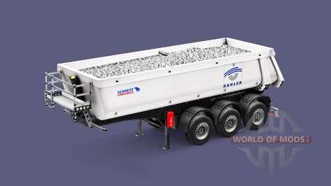 Semi-trailer tipper Schmitz Cargobull Buhler for Euro Truck Simulator 2