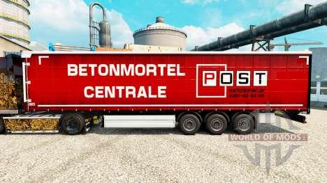 Skin Post Harderwijk on semi for Euro Truck Simulator 2