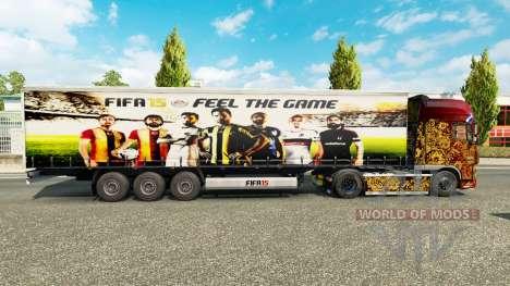 Skin FIFA15 v1.1 for trailers for Euro Truck Simulator 2