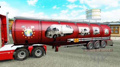 Skin Scania History for chemical semi-trailer for Euro Truck Simulator 2