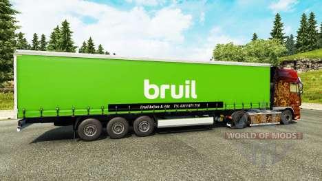 Skin Bruil on semi for Euro Truck Simulator 2