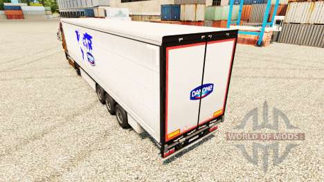 Skin Danone to trailers for Euro Truck Simulator 2