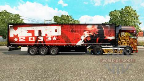 Skin Metro 2033 on semi for Euro Truck Simulator 2
