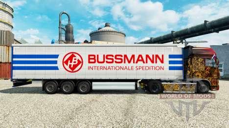 Skin on semi Bussmann for Euro Truck Simulator 2