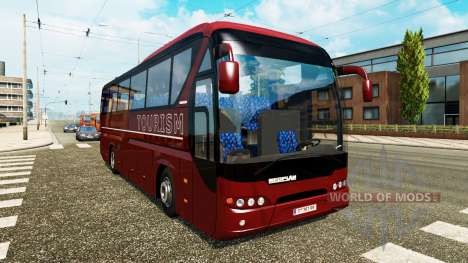 A collection of coaches for traffic for Euro Truck Simulator 2