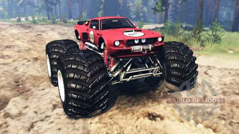 Ford Mustang Shelby GT500 [monster truck] for Spin Tires