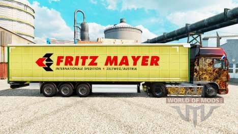 Skin Fritz Mayer on semi for Euro Truck Simulator 2