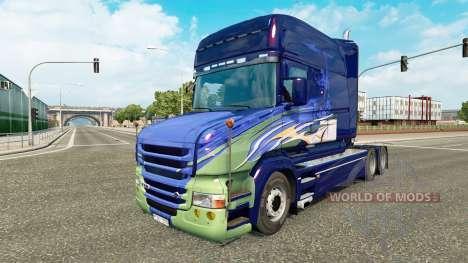 Skin for truck Scania T for Euro Truck Simulator 2