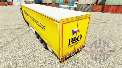 Skin P&O Ferrymasters to trailers for Euro Truck Simulator 2