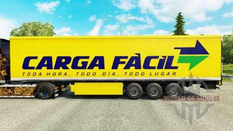 Skin Carga Facil on semi for Euro Truck Simulator 2