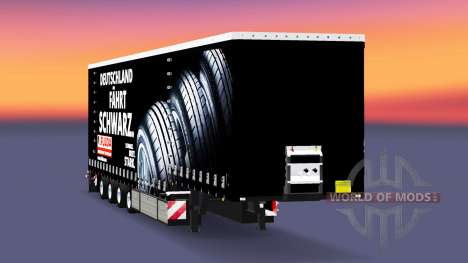Krone curtain semi-trailer Fulda for Euro Truck Simulator 2
