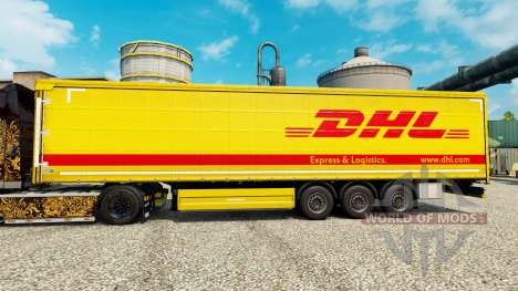 Skin DHL for trailers for Euro Truck Simulator 2