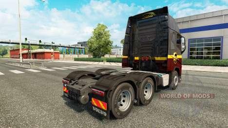 UPS skin for Volvo truck for Euro Truck Simulator 2