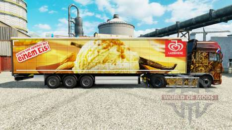 Langnese skin for trailers for Euro Truck Simulator 2