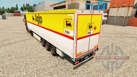 Skin Agip for trailers for Euro Truck Simulator 2