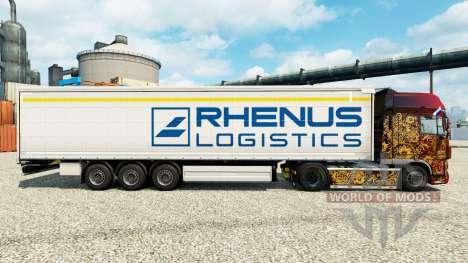 Rhenus Logistics skin for trailers for Euro Truck Simulator 2