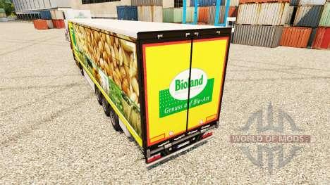 Skin Bioland for trailers for Euro Truck Simulator 2