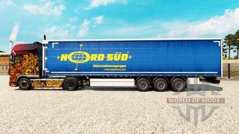 Skin NordSued on a curtain semi-trailer for Euro Truck Simulator 2