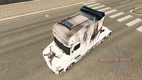 Pirates skin for truck Scania T for Euro Truck Simulator 2