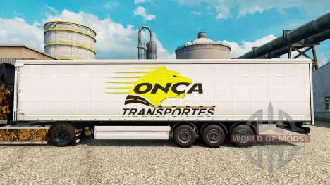 Onca Transportes skin for trailers for Euro Truck Simulator 2