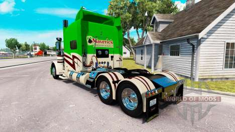 Скин Maverick Transportation на Peterbilt 389 for American Truck Simulator