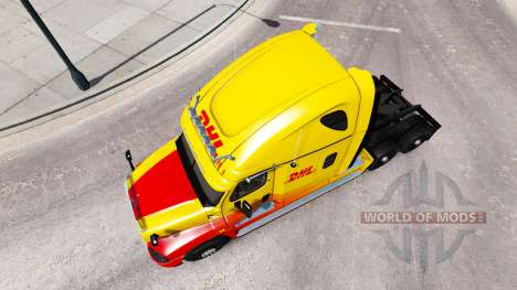 Skin DHL for tractor Freightliner Cascadia for American Truck Simulator