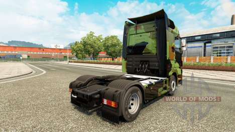 Skin Camo on truck Mercedes-Benz for Euro Truck Simulator 2