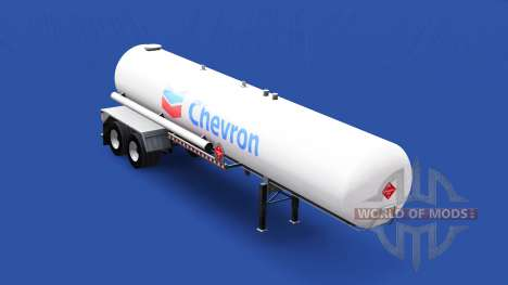 Skin Chevron in the gas tank semi-trailer for American Truck Simulator